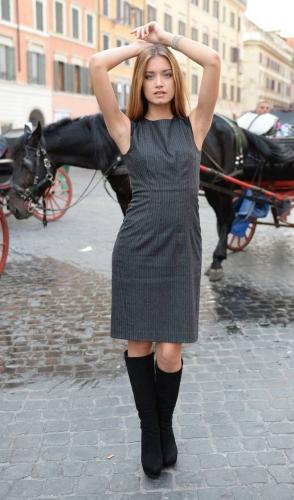 Miss Italia incanta Roma. Giulia Arena reginetta, passeggia a piazza di Spagna